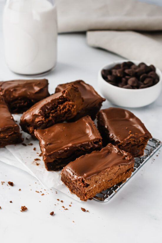 Gluten-Free Nutella Brownies with Chocolate Icing