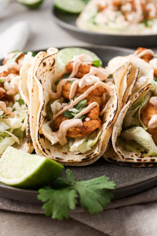 Spicy Shrimp Tacos.